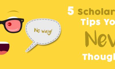 Scholarship tips